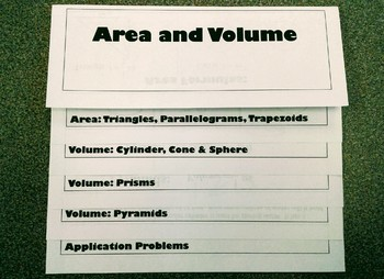 Area & Volume Flipbook