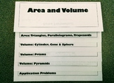 Area & Volume Flipbook