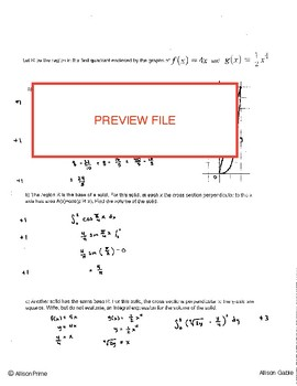 Area Volume Free Response similar to 2009 #4 Form A (1)
