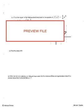 Area Volume Free Response similar to 2011 #3 Form A (1)