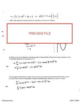 Area Volume Free Response similar to 2013 #5 (1)