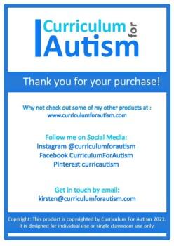 Area Volume Interactive Book Autism Special Education