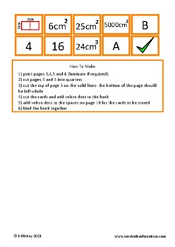 Calculating Area Volume Book Autism Special Education