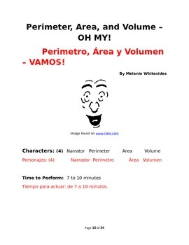Area, Volume, and Perimeter - Oh My! (Spanish and English