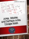 Area, Volume, and Surface Area Escape Room