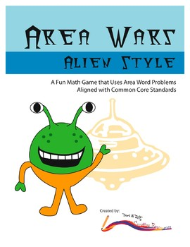 Area Word Problems – Area War Math Game – Common Core Aligned