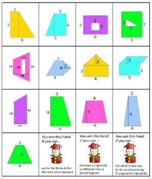 Area War - Triangles Parallelograms Trapezoids and Composite Figures