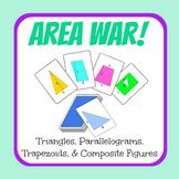 Area War - Triangles Parallelograms Trapezoids and Composi