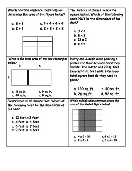 Area Word Problems