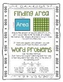 Area Word Problems Digital and Print No Prep Bundle