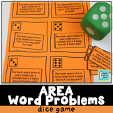 Area Word Problems Dice Game