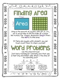Area Word Problems Worksheet