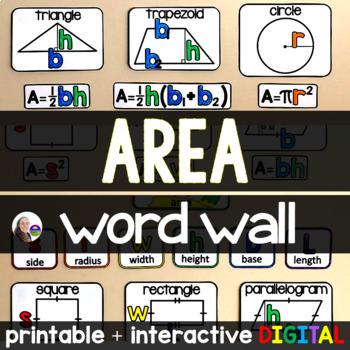 Area Word Wall