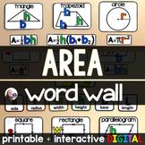 Area Word Wall - print and digital