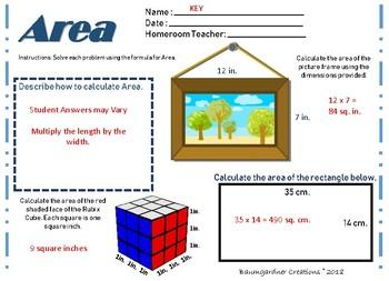 Area Worksheet