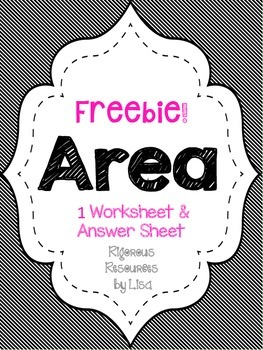 FREE - Area Worksheet