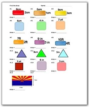 Area Worksheet - Math Worksheets