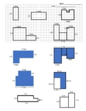 Area Worksheet (decomposition) (rectangles) (rectilinear shapes)