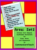 Area Worksheets: Common Core Set 2