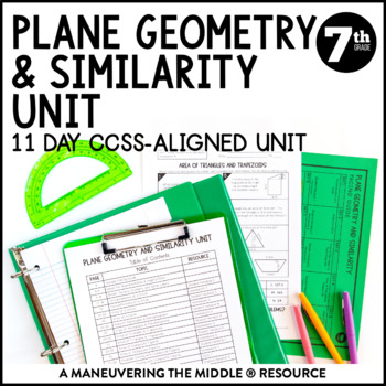 7th Grade Math Area, Circumference, Scale Drawings Unit: 7.G.1, 7.G.4, 7.G.6