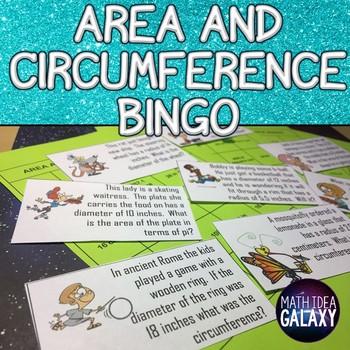 Area and Circumference Bingo