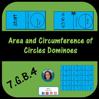 Area and Circumference Cut and Go Dominoes