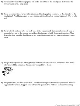 Area and Circumference Discovery Worksheet