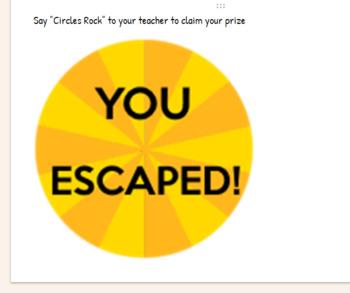 Area and Circumference Escape Room