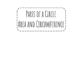Area and Circumference Foldable