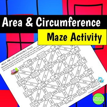 Area and Circumference Maze Activity
