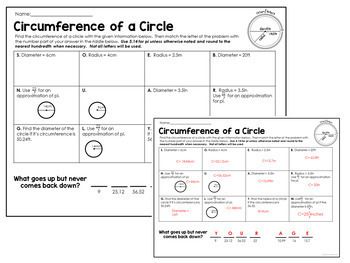 Area and Circumference Problems: Solving a Pi Day Riddle 7.G.B.4