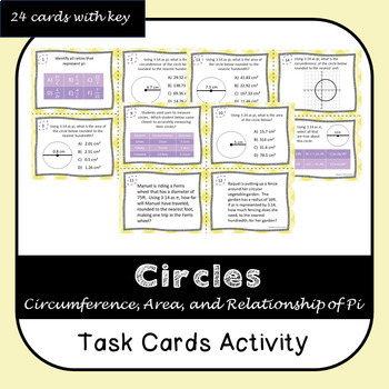 Area and Circumference Task Cards
