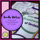 Area and Circumference of Circles Doodle Notes