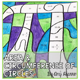 Area and Circumference of Circles: Color by Answer