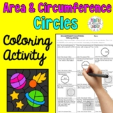 Area and Circumference of Circles Coloring Activity - Flower Mosaic