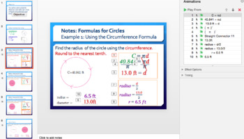 Area and Circumference of Circles (Day 4)