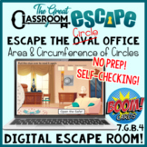 Area and Circumference of Circles Escape Room Boom Cards™ Perfect for Pi Day!