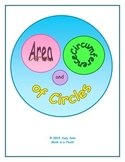 Area and Circumference of Circles Matching Card Game