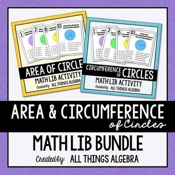 Area and Circumference of Circles - Math Lib Bundle