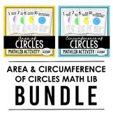 Area and Circumference of Circles - Math Lib Bundle