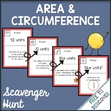 Area and Circumference of Circles Activity - Scavenger Hunt