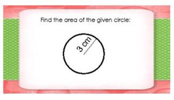 Area and Circumference of Circles Word Problems Worksheet and TASK CARDS