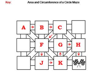 Area and Circumference of a Circle Activity: Math Maze