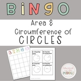 Area and Circumference of a Circle Activity: BINGO