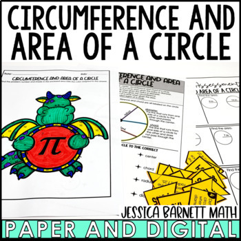 Circumference and Area of a Circle Lesson Bundle