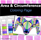 Area and Circumference of a Circle Pi Day: Coloring Activity