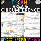 7th Grade Math Game   Area & Circumference of a Circle