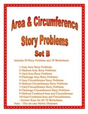 Area and Circumference of a Circle Story Problems Set B