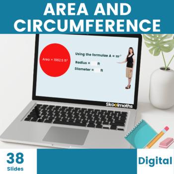 Area and Circumference of a circle - ks3, 6th grade, 7th grade, 8th grade