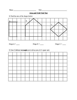 Area and Grids Assessments